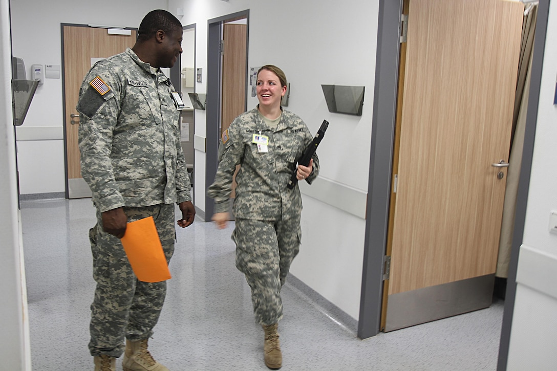 Eric Kunawotor, 38, of Ghana, had never worked with a U.S. Army Reserve Soldier before he met Sgt. Josephine Charlotte Morton. He was impressed with her professionalism and eagerness to learn. (Photo by Staff Sgt. Rick Scavetta, 7th Mission Support Command)