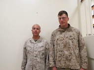 02 Oct 2015 - Coach of the week, Sgt Martinez, Noe with 2D CEB and High Shooter Cpl Gibson, Corbin J. Shot a 337 with 2D LAR BN