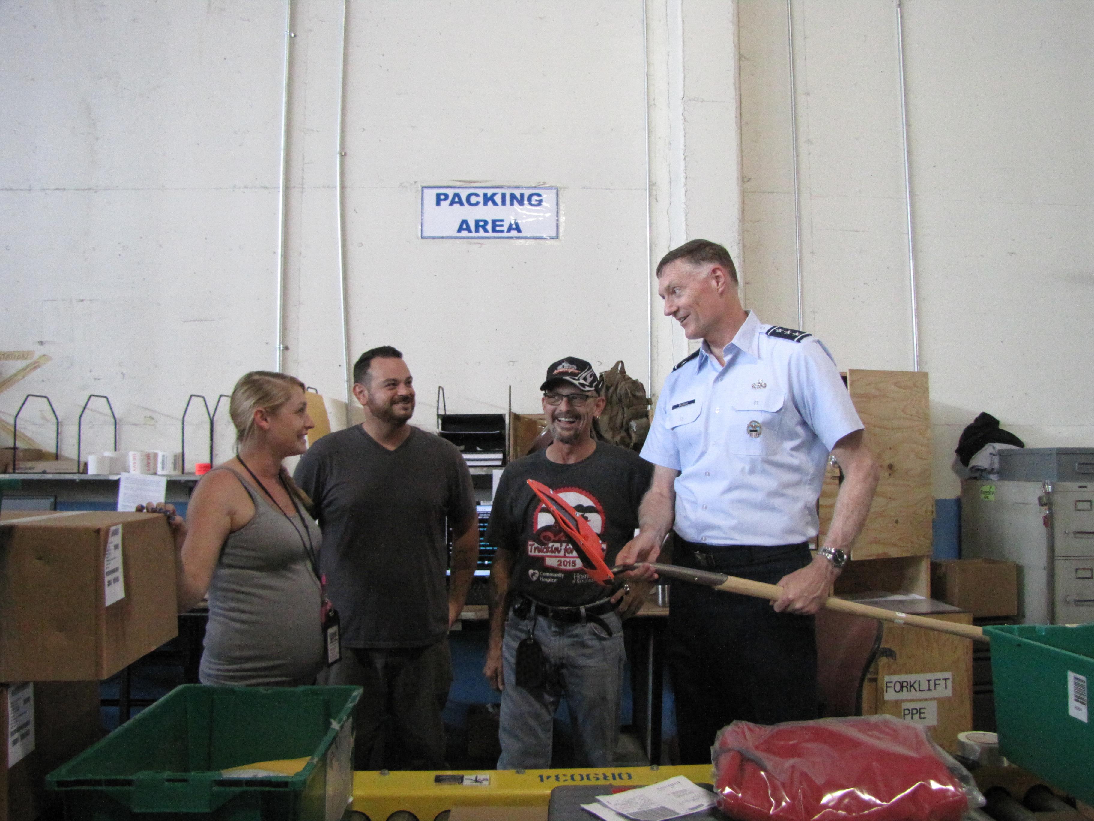 DLA Director visits DLA Distribution San Joaquin > Defense