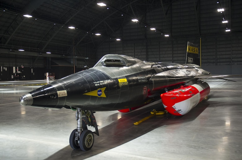 The North American X-15A-2 was moved from the restoration hangar to the museum's new fourth building on Oct. 2, 2015. The X-15 became the first aircraft to be moved into the fourth building, where it will be part of the expanded Space Gallery. (U.S. Air Force photo by Ken LaRock)