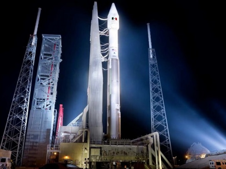 The 45th Space Wing supported the United Launch Alliance's 100th launch, an Atlas V 421 flying the Morelos-3 communications satellite for Mexico's Secretariat of Communications and Transportation on Oct. 2, 2015. (Courtesy photo/Lockheed Martin)