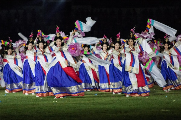 Athletes of over 100 nations joined together in Mungyeong, South Korea, for the Opening Ceremony of the 2015 6th Conseil International du Sport Militaire (CISM) World Games. The ceremony included the marching in of each nation, words from the president of South Korea and many Korean cultural dances. The CISM World Games provides the opportunity for the athletes of these nations to come together and enjoy friendship through sports. The sixth annual CISM World Games are being held aboard Mungyeong, South Korea, Sept. 30-Oct. 11.