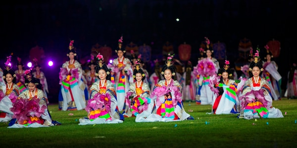 Athletes of over 100 nations joined together in Mungyeong, South Korea, for the Opening Ceremony of the 2015 6th Conseil International du Sport Militaire (CISM) World Games. The ceremony included the marching in of each nation, words from the president of South Korea and many Korean cultural dances. The CISM World Games provides the opportunity for the athletes of these nations to come together and enjoy friendship through sports. The sixth annual CISM World Games are being held aboard Mungyeong, South Korea, Sept. 30 - Oct. 11.
