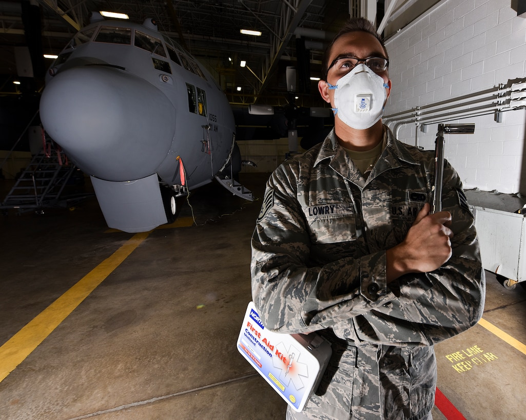 Staff Sgt. Benjamin Lowry, 911th Maintenance Squadron fuel cell technician, poses for a photo on Oct. 3, 2015 at Pittsburgh International Airport Air Reserve Station, Pa. Lowry, who maintains and repairs the fuel system of C-130s in the military, is a physical therapist in the civilian world and also represents this month's Airmen of the Burgh. (U.S. Air Force photo by Staff Sgt. Joshua J. Seybert)