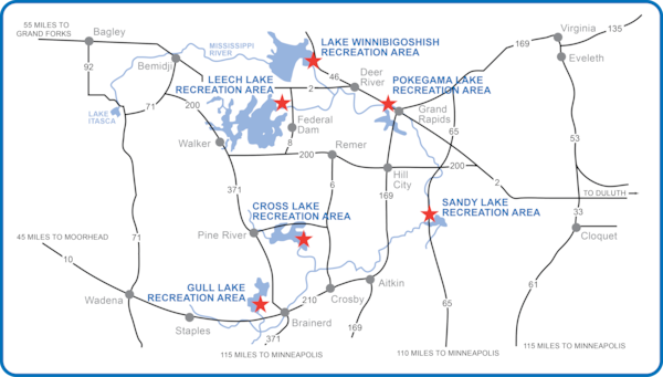 Mississippi River Headwaters reservoirs