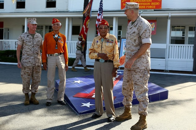 Navajo Code Talkers return to the Blue Diamond > 1st ...