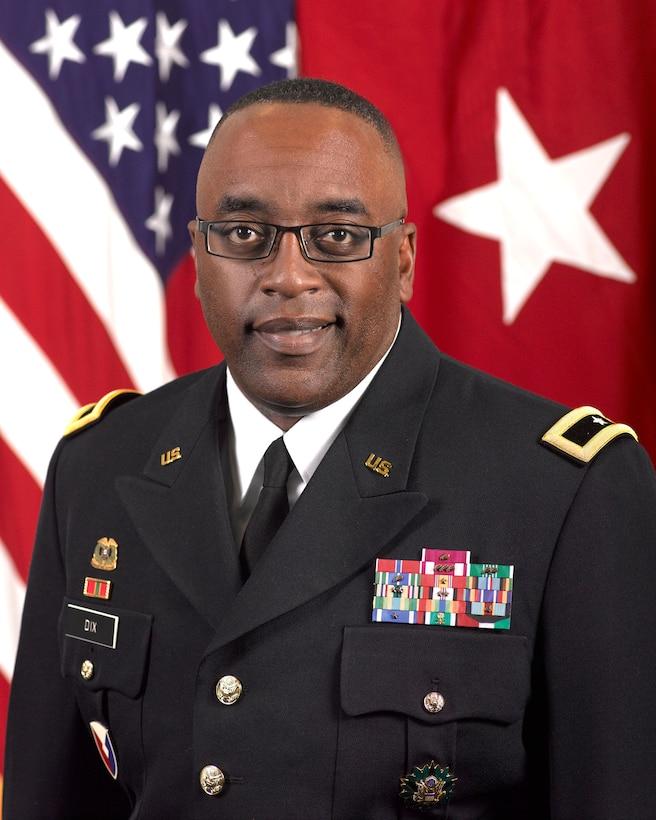 Army Brig. Gen. Richard B. Dix, commander, DLA Distribution