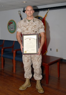 On October 1, 2015 Combat Engineer Instruction Company instructor William E. Satterfield is promoted to the rank of Gunnery Sergeant aboard Marine Corps Engineer School, Camp Lejeune, North Carolina.