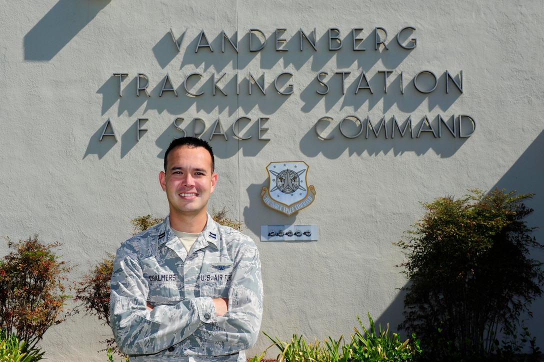 Capt. Joel Chalmers is the flight commander at Vandenberg Tracking Station, aka COOK. Chalmers lived most of his life following his father, Joel Chalmers Sr., through his career as a contractor in the AFSCN. (U.S. Air Force photo/Staff Sgt. Jim Araos)