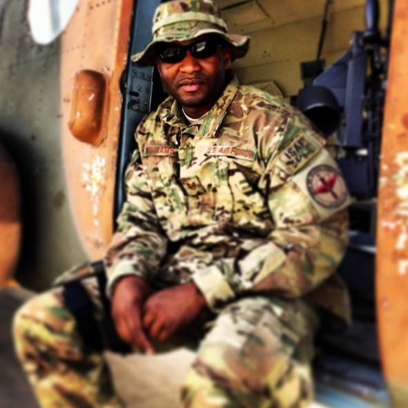 Tech. Sgt. Sherrod Williams during his deployment to Afghanistan. He experienced ups and downs, but hopes to one day return and finish the work he started there. (Courtesy Photo)