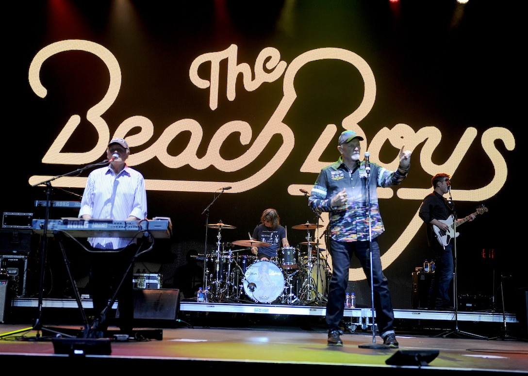 The Beach Boys perform at Norsk Høstfest festival at Minot, N.D. Oct. 3, 2015. The Beach Boys have been together since the 1960s and were performing at the festival during Military Appreciation Day.(U.S. Air Force photo by Staff Sgt. Chad Trujillo)