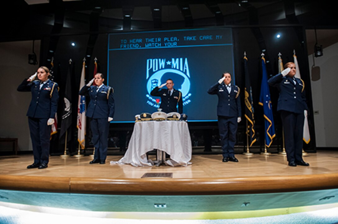 POW/MIA Table of Remembrance Toast performed by the USAF OSU ROTC Arnold Air Society, Detachment 645 during commemoration event.