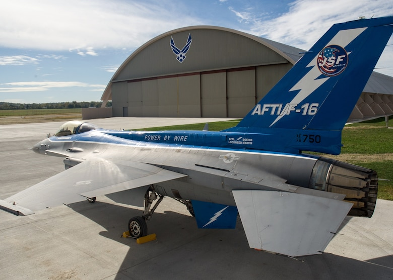 Restoration staff move the General Dynamics NF-16A AFTI into the new fourth building at the National Museum of the U.S. Air Force on Oct. 6, 2015. (U.S. Air Force photo by Ken LaRock)