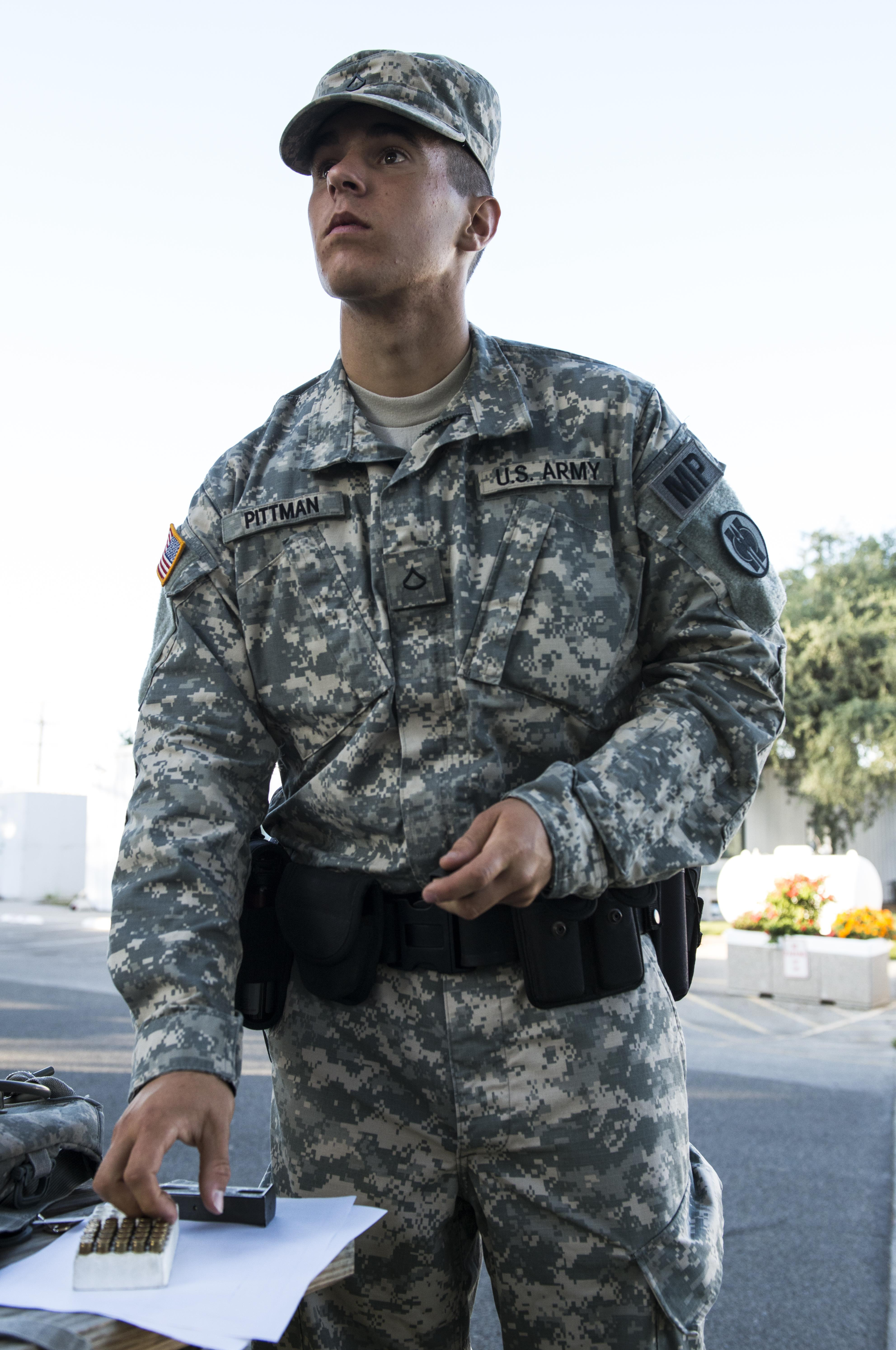 reserve military police work side by side with fort hunter