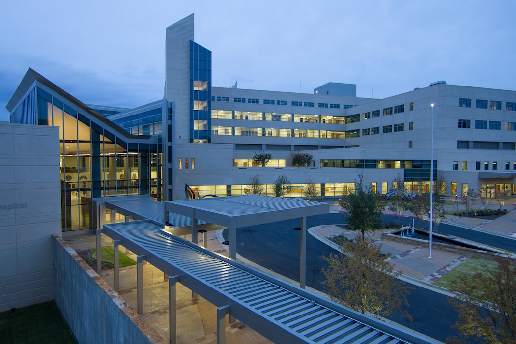 An exterior view of the newly-unveiled Martin Army Community Hospital located at Fort Benning in Georgia. Since opening in November 2014, the hospital's 745,000 square-foot, state-of-the-art facility improves the area's medical capacity to provide inpatient, outpatient and ancillary services to a military community of more than 90,000 Soldiers, family members and retirees.