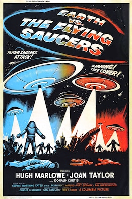"Science fiction movies in the 1950s often featured ""flying saucers"" from Outer Space, and the circular shape of the Avrocar invited a comparison in the public's mind."