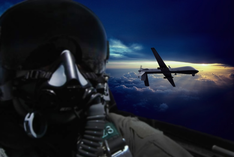 """Myth:RPAs will replace manned aircraft  Fact: According to Chief of Staff of the Air Force General Mark A. Welsh III, """"the Air Force needs a number of platforms."""" He continued by saying this includes manned and unmanned assets to accomplish sustainable air supremacy.  """"Air superiority is a mission. It's not a platform, it's a mission. So ideally, you'd have both tools available to you."""" (U.S. Air Force photo illustration by Tech. Sgt. Nadine Barclay)"""