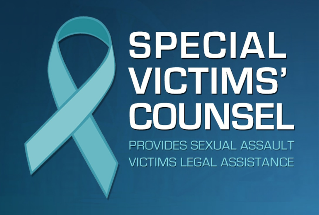 Special Victims' Counsel provides sexual assault victims legal assistance. SVCs are active-duty judge advocates whose role is to represent victims in a confidential, attorney-client relationship through the investigation and prosecution process. (U.S. Air Force courtesy graphic)
