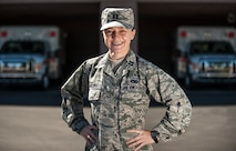 Capt. Reni Angelova, 99th Medical Group practice manager, poses for a picture outside of the Mike O'Callaghan Federal Medical Center on Nellis Air Force Base, Nev., Oct. 7, 2015. Angelova speaks Russian, Bulgarian and English while possessing master's degrees in economics, law, business administration as well as international relations. She has worked as a teacher and a border patrol agent at one of the busiest checkpoints in Bulgaria before immigrating to the United States. She recently served in the Office of Defense Coordination in Bulgaria as an interpreter under the Language Enabled Airman Program. (U.S. Air Force photo by Staff Sgt. Siuta B. Ika)