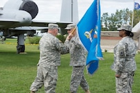 Soldiers of the 372nd Military Intelligence Battalion conduct an activation ceremony at the Selfridge Air National Guard museum on 12 Sept. The event symbolizes the Army tradition of recognizing the activation of a Army unit with a direct mission in support of the Department of Defense.  Col. Andrew Udzielak, Commander of the 648th Regional Support Group officiated the event, while the 338th Army Band entertained those in attendance.