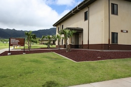 """The new 29th Brigade Engineer Battalion (29th BEB) Headquarters is one of the 22 new buildings on Schofield Barracks' 101-acre South Range Road Project area that was built by contractor Joint Venture Dck-ECC Pacific LLC and managed by the Honolulu District. The area is also now home to the 249th Engineer Battalion Prime Power """"A"""" Company, the 19th Military Police Battalion (CID), and the 500th Military Intelligence Brigade."""
