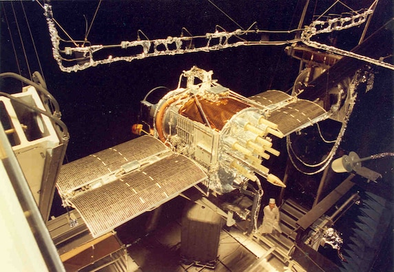 A full-scale GPS was tested in the Mark I Space Chamber at AEDC in 1977. The tests checked reliability of the satellite's systems prior to its launch in 1978. AEDC personnel reflected back on this testing on July 17, 2015, the 20th anniversary of when GPS reached full-operational capability.