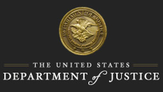 The Department of Justice teamed with the Air Force Office of Special Investigations, Defense Criminal Investigative Service and the Air Force Audit Agency, resulting in the sentencing of a former Government contracting officer representative Feb. 12, 2019, for conspiracy and bribery. (U. S. Dept. of Justice graphic)