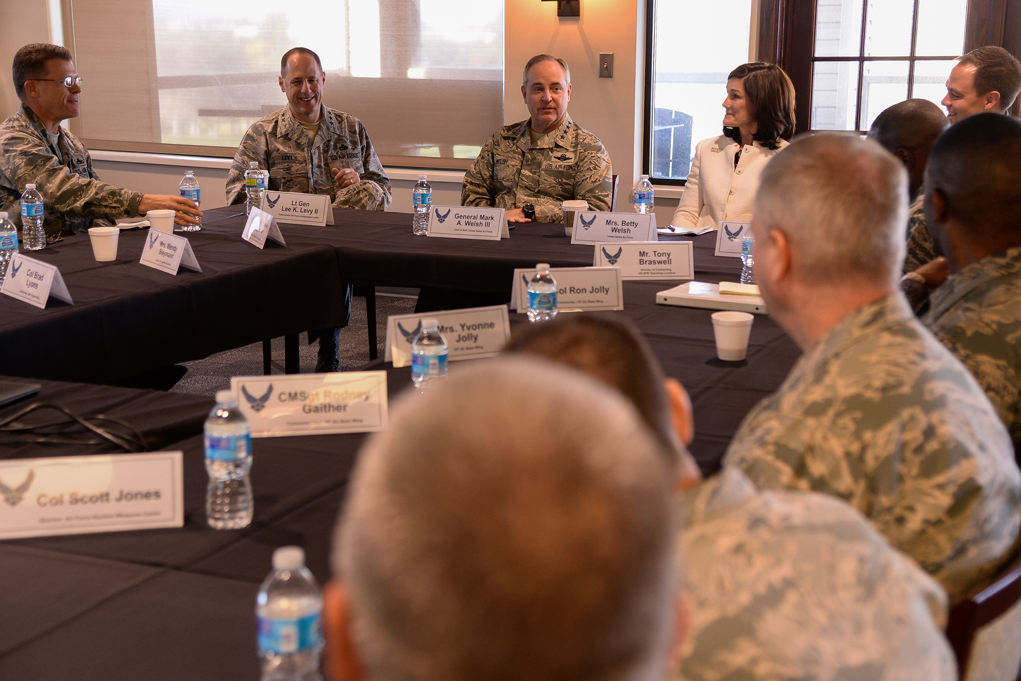 air force chief of staff visits with hill airmen