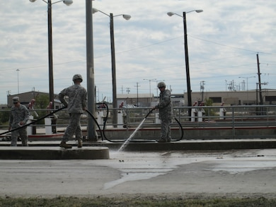 The Tactical Vehicle Wash Rack at Fort Hood was originally installed in 1987. The wash rack was designed to treat off-wash through a series of grit chambers, and settling basins for re-use while capturing and using rainwater in the primary lagoon.