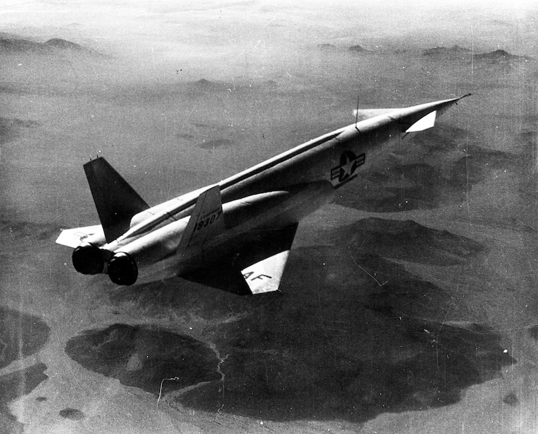The X-10 could be remotely controlled from the ground or another aircraft, or it could guide itself. (U.S. Air Force photo)