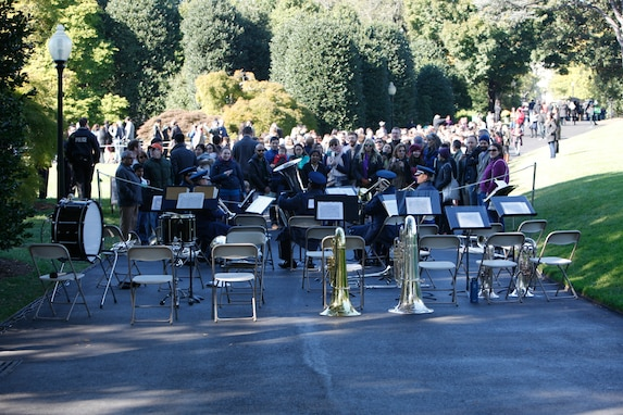 The Ceremonial Brass performed for the White House Garden Tour on October 18th. The Air Force Band supports this event biannually, and it is open to the public. (U.S. Air Force photo by Tech. Sgt Matthew Shipes/released)
