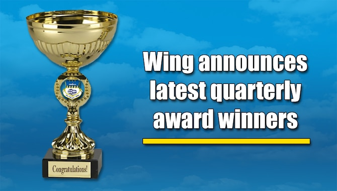 The 315th Airlift Wing announced its latest quarterly award winners this week. (U.S. Air Force graphic by Michael Dukes)