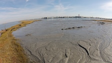 The U.S. Army Corps of Engineers' Philadelphia District and its contractor Barnegat Bay Dredging Company conduct dredging operations and marsh restoration at Mordecai Island, NJ in October of 2015. USACE is dredging critical shoals from the New Jersey Intracoastal Waterway and using the material to restore a portion of Mordecai Island marshland. The island serves two important functions within Barnegat Bay: it provides habitat for wildlife and augments overall coastal resiliency for the backbay communities of Long Beach Island