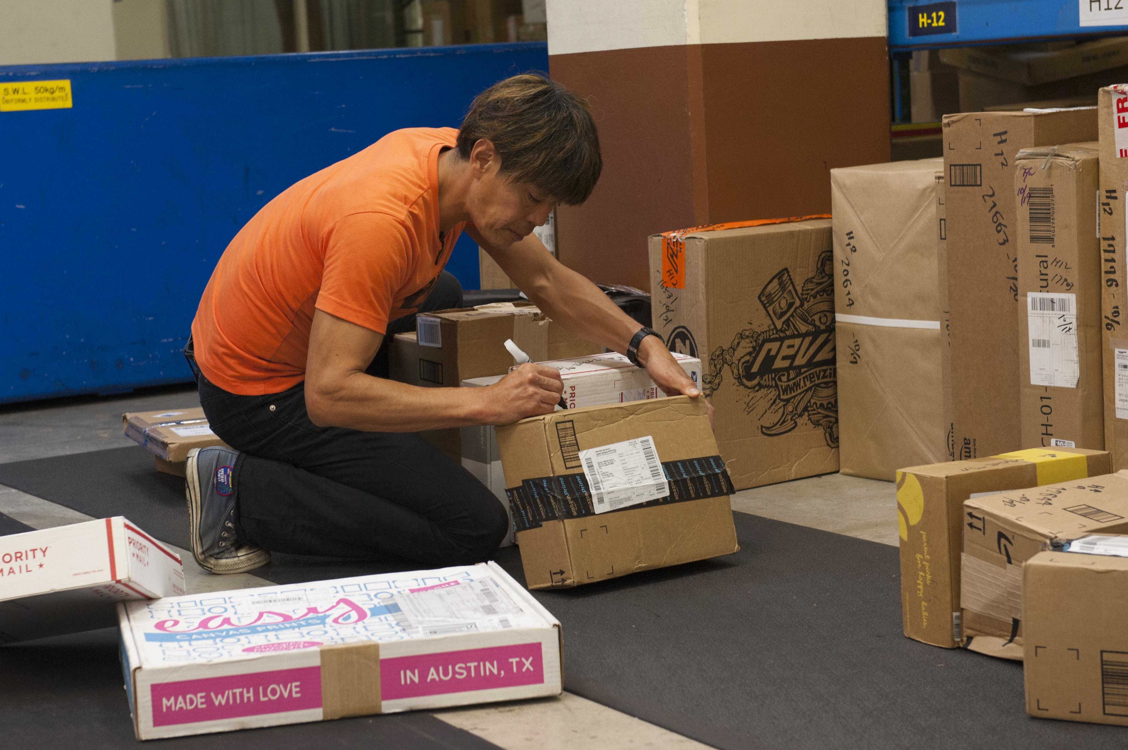 Art - Post office parcel service ...