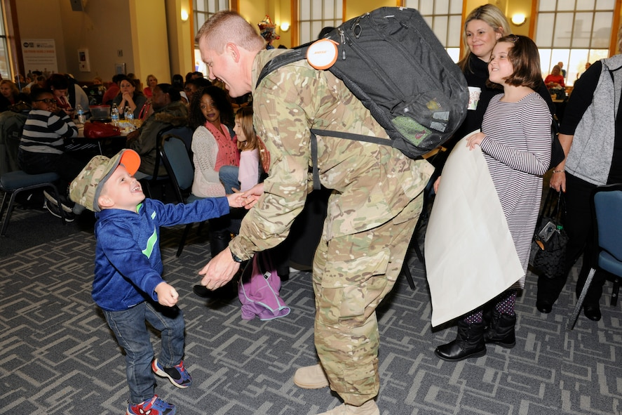 151024-Z-EZ686-234 -- Hundreds of Airmen from the 127th Wing, Selfridge Air National Guard Base, Mich., return home on October 24, 2015 after a six month to Southwest Asia in support of U.S. Central Command's Operation Inherent Resolve.   (U.S. Air National Guard photo by Master Sgt. David Kujawa)