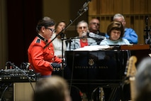 On Sunday, Oct. 25, at John Philip Sousa Band Hall at the Marine Barracks Annex, the Marine Jazz Ensemble performed the music of Duke Ellington, Sting, Stevie Wonder, and other jazz tunes frequently performed at The White House. (USMC photos by Staff Sgt. Brian Rust/released)