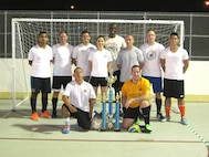 The 412th Medical Group took the Intramural Soccer Championship. (Courtesy photo)