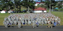 Prior to Oct. 1, 2015 four distinct units made up the Oregon Air National Guard Combat Operations Group (COG). The four units that made up the COG were the 116th ACS, 125th STS, 123rd WF and 270th ATCS gathered here for a group photograph following 5 days of training at Camp Rilea, Ore., June 21, 2013. (U.S. Air National Guard photo by Tech. Sgt. John Hughel, 142nd Fighter Wing Public Affairs)