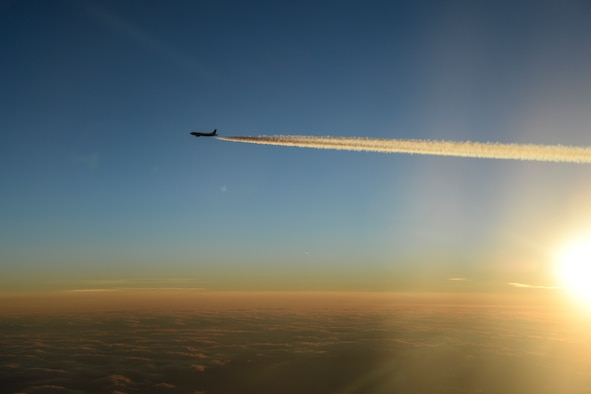 A United States Air Force KC-135 Stratotanker, deployed from McConnell Air Force Base, Kan., flies toward the exercise area to participate in Exercise Vigilant Shield 16 over the high Arctic Oct. 22, 2015. From Oct. 15-26, 2015, approximately 700 members from the Canadian Armed Forces, the United States Air Force, United States Navy and the United States Air National Guard are deploying to Iqaluit, Nunavut, and 5 Wing Goose Bay, Newfoundland, Labrador for Exercise Vigilant Shield 16. (US Air National Guard photo by Staff Sgt. Christian Jadot/released)