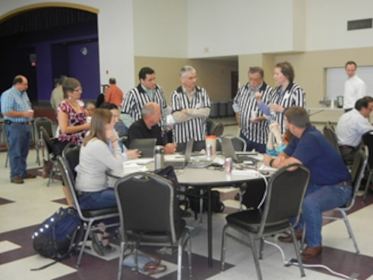 Representatives from USGS, IWR, and SARA served as referees. Tournament facilitators were made up of representatives from the IWR, South Central Climate Science Center, and SARA.