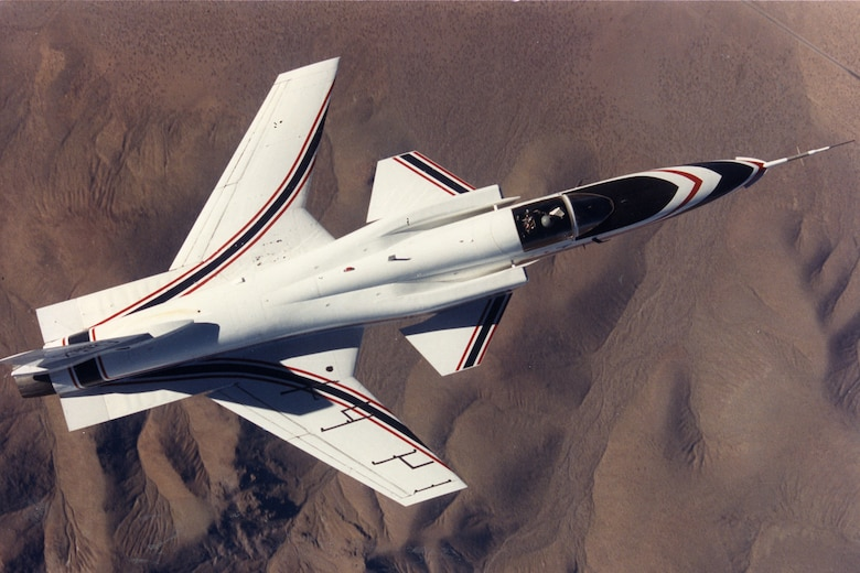 Grumman X-29A. (U.S. Air Force photo)