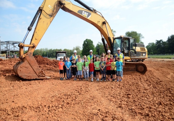 Students from Marshall Elementary toured the project site of their new Marshall Elementary school, which is under construction at Fort Campbell in Kentucky. The new 21st-Century DoDEA school is scheduled to be complete by May 2016.