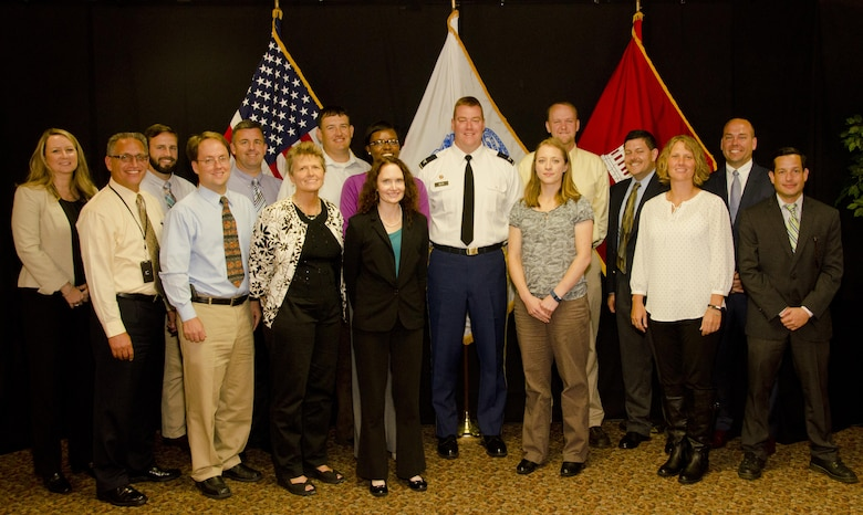 Shown here with District Commander Col. Christopher Beck, (back row left to right) Nora Hawk, Waylon Humphrey, Jason Root, Jeremy Cobb, Kierra Washington, Adam Warren, Brandon Brummett, Matt Lowe; (Front row left to right) Kevin Mieczkowski, Ed Vincent, Roxanne Keeling, Sarah Ignacio, Sarah Keller, Michelle Hellinger and Eric Sternberg comprised the 2014-2015 class.