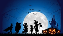 """Trick-or-treating is a Halloween custom for children in many countries. Children in costumes travel from house to house asking for treats such as candy with the phrase """"Trick or treat"""". (Graphic courtesy of iStockPhoto)"""