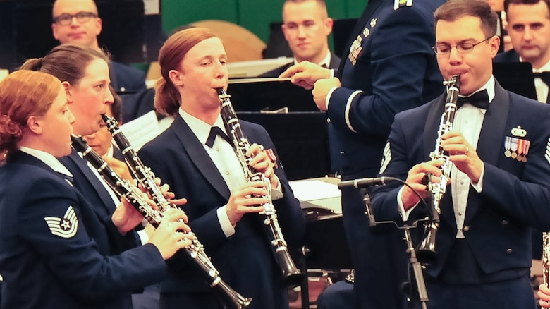(Left to right) Technical Sgts. Sara Wollmacher, Laura Shoun, Kristin