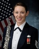Technical Sgt. Kaitlin Taylor, newest member of the Concert Band (U.S. Air Force Public Affairs photo/released)
