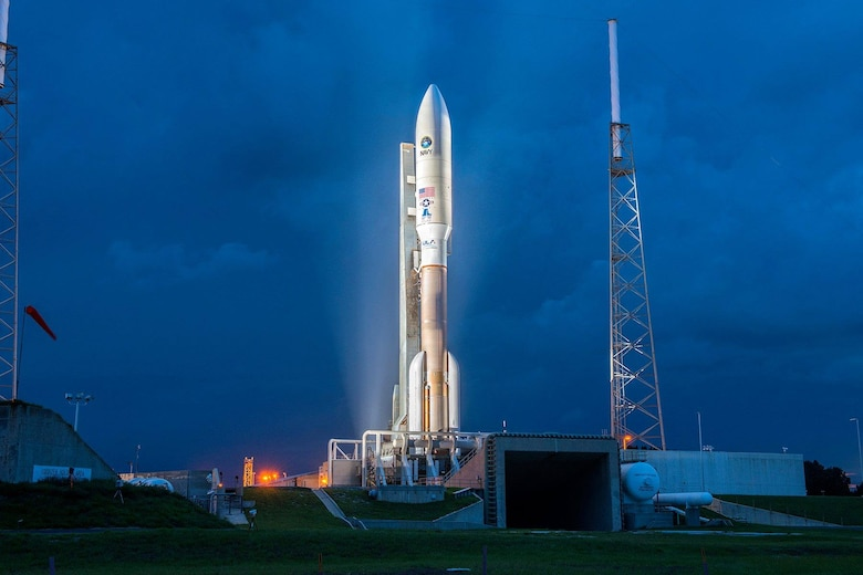 The 45th Space Wing helped successfully launch the fourth Mobile User Objective System satellite aboard a United Launch Alliance Atlas V rocket Sept. 2, 2015, from Cape Canaveral Air Force Station, Fla. The Navy-delivered MUOS is a next-generation narrowband tactical satellite communications system, built by Lockheed Martin and designed to significantly improve ground communications for U.S. forces on the move. (United Launch Alliance courtesy photo)