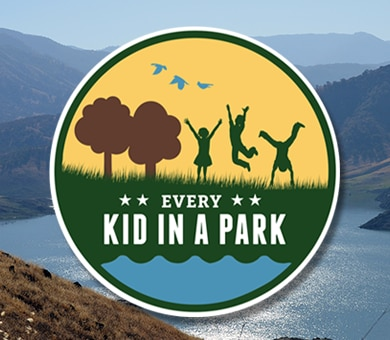 Every 4th grader and their family get a free year-long pass to all federal parks! The president created the Every Kid in a Park program to bridge the growing disconnect between the next generation and the great outdoors, and to inspire children to become future stewards of our nation's natural and historic treasures.