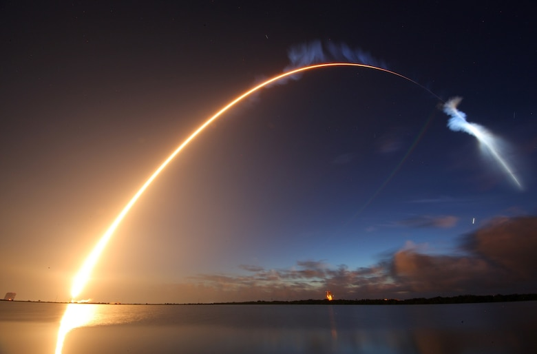 The U.S. Air Force's 45th Space Wing helped successfully launch the fourth Mobile User Objective System (MUOS) satellite aboard a United Launch Alliance Atlas V rocket from Launch Complex 40 here Sept. 2, 2015, from Cape Canaveral Air Force Station, Fla., at 6:18 a.m. EDT. The U.S. Navy-delivered MUOS is a next-generation narrowband tactical satellite communications system, built by Lockheed Martin, designed to significantly improve ground communications for U.S. forces on the move. (Photo by Michael Deep/Spaceflight Insider)