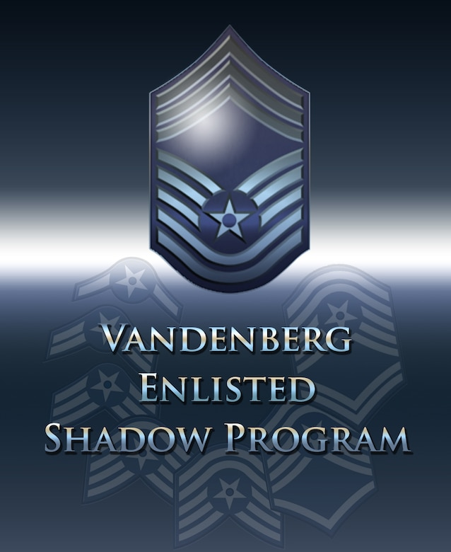 The Enlisted Shadow Program was designed as a means to educate and train Airmen in a selected career of their choosing. The interactive concept will give participants an opportunity to witness other Airmen's daily routines and learn what they do, how they do it, and experience first-hand how they directly impact the mission here at Vandenberg. (U.S. Air Force graphic by Jan Kays/Released)